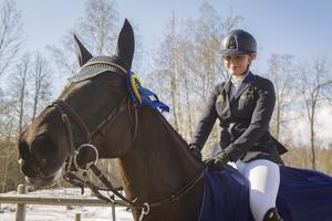 Josefine Nykvist och Lara tog hem segern i Grand Prix-klassen i söndags i Gävle.
