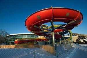Vattenruschbanan på äventyrsbadet Aqua Nova i Borlänge.