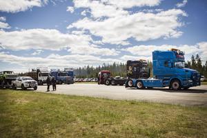 Ett 40-tal lastbilar anmälde sig till tävlingen under lördagen.