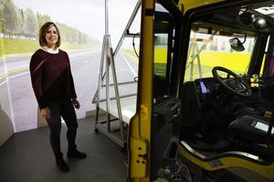Fordonsergonomen Johanna Vännström har jobbat med projektet på Scania.