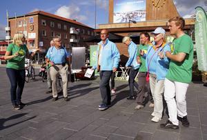 Miljöpartiet försökte rocka loss på Stortorget men övriga partier var måttligt intresserade. Moderaterna och vänstern anslöt till sist en stund.