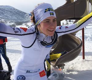 Sollefteååkaren Ebba Andersson övertygade på tisdagens träning. Så pass mycket att hon tog den sista skiathlonplatsen. På lördag gör hon VM-debut.