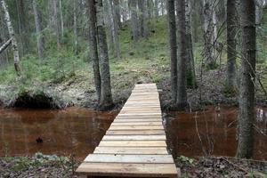 Det tog inte många timmar för brobyggarna att iordningsställa broarna vid Kustibacken.