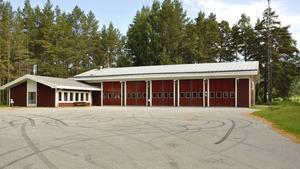 Nuvarande brandstation i Hammarstrand. Foto: Katrin Åsander