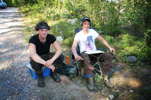 Elias Hiert och Anton Borgström från Ramsjö satt vid den andra stationen. De var två av de omkring 25 funktionärer som möjliggjorde dagen.