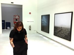 VLT:s kulturredaktion träffade Aida Chehrehgosha i samband med att utställningen hängdes på Västerås konstmuseum.