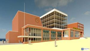 Skisserna på hur ett ombyggt Storsjöteatern kan se ut i framtiden presenterades på torsdagen.