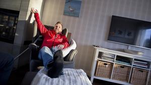 """""""En sådan här intervju är så mycket jag orkar på en dag"""", erkänner Mattias """"Bissen"""" Larsson samtidigt som han gläds åt nomineringen."""