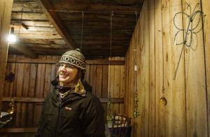 Anette Paulsson sålde luffarslöjd och ställde ut på Rödöns marknad för tredje året.