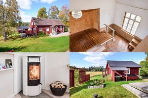 Vid Rupstjärn i Sundborn ligger den här villan med fem rum och en gammal kyrksal.