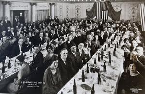 Fredrik Göransson besökte Sandvikenklubben i Chicago i november 1927. Fredrik Göransson var sonson och namne till grundaren av företaget som sedermera blev koncernen Sandvik.