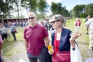 Sture och Gunnel Östling var nostalgiska inför allsången.