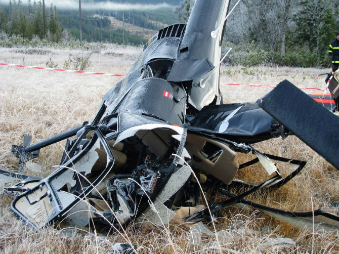 Svar helikopterolycka