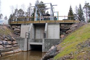 Kraftstationen i Lobonäs under ombyggnationen.