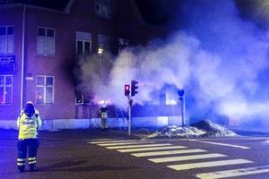 Det tog en kvart för räddningstjänsten att få branden under kontroll.