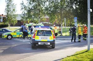 Kvinnan blev påkörd vid övergångsstället vid ICA Kvantum på Gärdet.