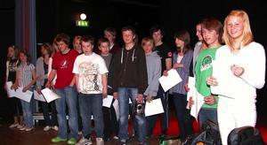 Friska hjärnor. Duktiga och idéerika högstadieelever i Leksand fick i går pris för sina nyskapande idéer.