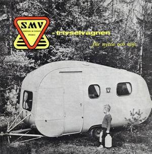 Ägget – som det såg ut i reklambroschyren Trivselvagnen från Sörby Mekaniska Verkstad på 60-talet.Foto: Sörby Mekaniska Verkstad