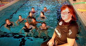 Ann-Marie Jonasson ledde vattengympan i simhallen.