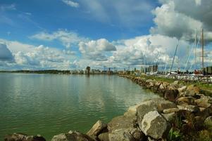 Jag tog en promenad nere vid Östra hamnen med min Nikon och lyckades få till några fina bilder, det här är en av dem.