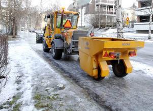 Östersunds kommuns jourpersonal fick mycket att göra på juldagen på grund av halkan.