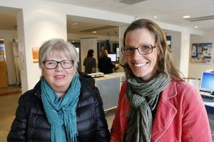 Barbro Gidlund arbetar som etableringskoordinator i Östersunds kommun och Karin Ramström gör detsamma, fast i Åre kommun.