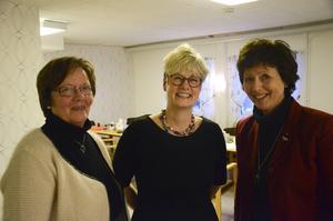Marlene Johansson från Hyresgästföreningens mediagrupp i Hälsingland tillsammans med Marie Linder och Bollnäs kommunalråd Marie Centerwall (S).