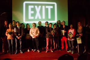 Vinnarna från förra årets filmfestival.