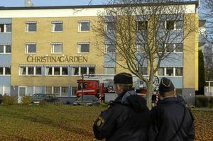 En lägenhet skadades vid en brand på Christinagården i tisdags.BILD: MICHAEL LANDBERG
