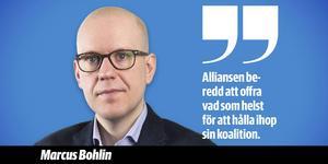 Partiledarna som slöt Decemberöverenskommelsen (sedan dess har Göran Hägglund lämnat som partiledare).