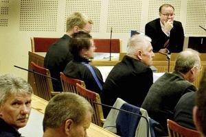 26-åringen under förhandlingarna i Gävle tingsrätt.