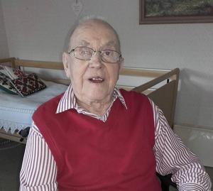 August Grip, Hassela, firar i dag sin 100-årsdag.