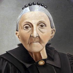 Konstnären Olof Krans porträtt av modern är från 1906. Då hon var 85 år gammal. Det finns på museet i Bishops Hill.