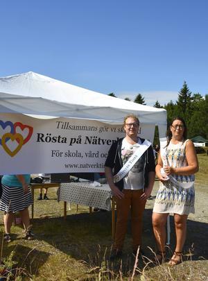 Lotta Borg och Robert Thunfors från Nätverk Timrå kampanjade på Åstödagen.