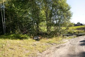 Här vid Hornån i Sofiedal låg bröderna Westmans verkstad. Huset revs 1984. Flera hade verksamhet här efter Otto Westman, bland annat Forsbergs billackering.