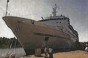 Så här ser fartyget  MS Delphin ut (bild från de bygglovshandlingar som rederiet skickat in till kommunen.