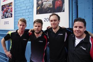 Ett laddat gäng med Hampus Nordberg, Jon Persson, Viktor Brodd och Peter Blomquist ser fram emot den första finalen på hemmaplan.
