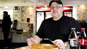 Pizzasugen. David Markström brukar äta pizza i Fagersta och anser att det finns gott om bra pizzerior här.