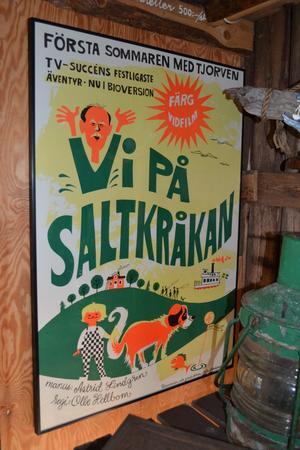 Klassiker. Filmaffisch på Saltkråkanmuseet, på Snickargården.