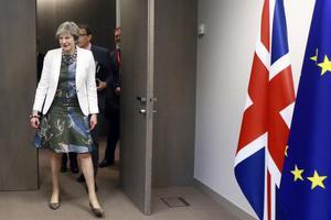 Storbritanniens premiärminister Theresa May under EU-toppmötet i Bryssel tidigare i månaden. Brexit kommer att få allvarliga konsekvenser för näringslivet, skriver Olle Ludvigsson (S).