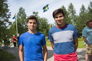 Bröderna Matthew och Chris Hagglund besöker släkten i Sverige från Orlando, Florida.