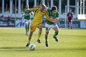 Mats Moldskred stod för Brages offensiva möjligheter mot Ängelholm. Foto: Klockar Mattias Nääs/DT
