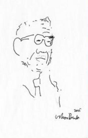 Ko Un, tecknad av den turkiske författaren Orhan Pamuk.