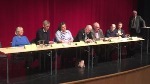 Debattpanelen på Folkets Hus i Ludvika.