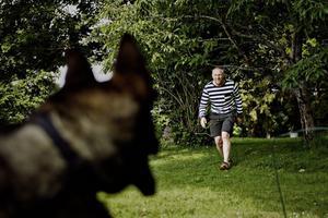 Roger Hammarström och schäferhunden Asko tillbringar nästan all tid tillsammans. I ett år har de tränat för att bli ett sammansvetsat polisteam hos örebropolisen och i helgen gjorde de sitt första gripande. Detta firades med tårta och leverpastej.