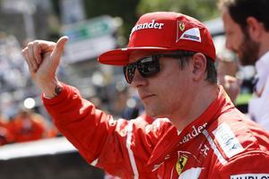 Kimi Räikkönen tog sin första pole position sedan Frankrikes GP 2009.