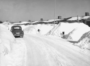 Det var även mycket snö efter Östergatan i Edsbyn 1966.