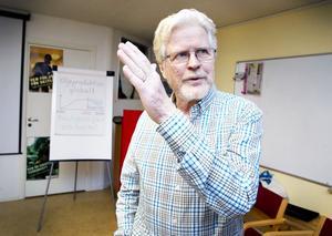 – Tillväxt är ohållbart, säger Bo Hagstedt från Omställning Gästrikland.