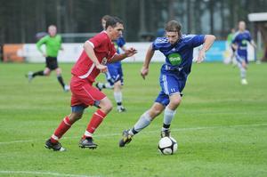 Danne Ölander stod för många vassa ryck före paus – och gjorde också matchens enda mål när Arbrå slog bottenlaget Norrala.