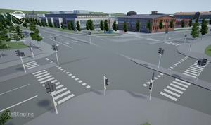 Korsningen Köpmangatan och Parkgatan kan komma att justeras för att anpassas till busstrafiken.